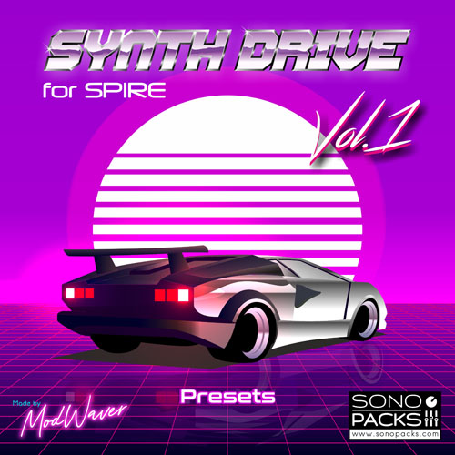 Cover SonoPacks Synth Drive 1 spire Presets