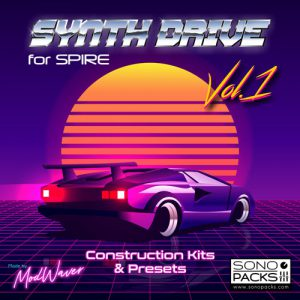 Cover Sono Packs Synth Drive1 construction Kits spire music producers