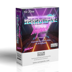Retrowave Impact 1 Loops Kits Diva synth Presets