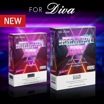 retrowave presets diva synth sounds loops construction kits synthwave